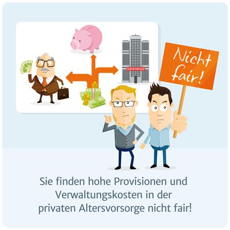 Altersvorsorge ohne Provision und ohne hohe Verwaltungskosten