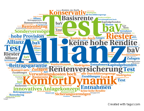 Allianz Rentenversicherung KomfortDynamik Test