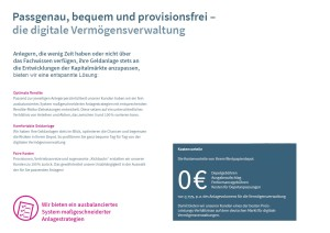 provisionsfreie Vermögenverwaltung mit ETFs