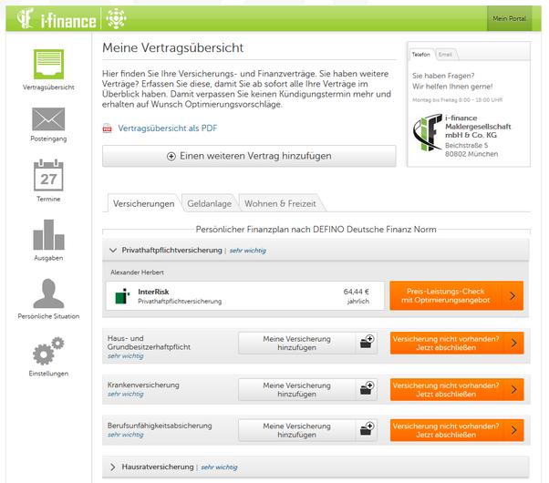 Startseite digitaler Versicherungsornder i-finance GmbH - VorsorgeKampagne.de - BesserBerater.de